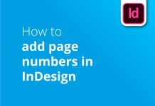 How to add page numbers in InDesign blog header