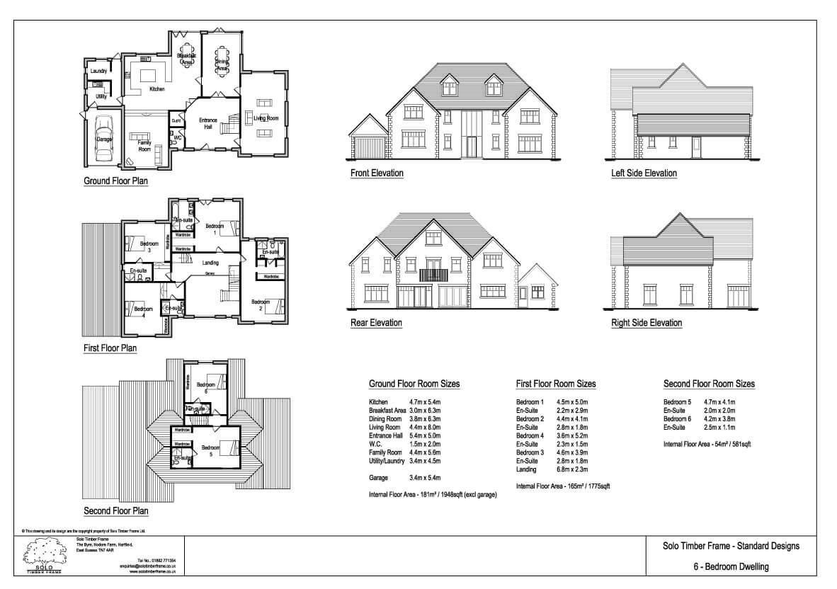 Ghylls Lap 6 Bedroom House Design