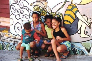 Children Posing for Photos, Havana, Cuba, Dec. 2003