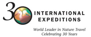 INTERNATIONAL EXPEDITIONS 30TH LOGO
