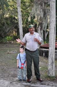 National Park Service Ranger on Cumberland Island National Seashore, Georgia