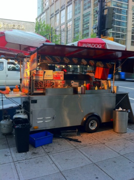 Japa Dog Stand in Downtown Vancouver, B.C.