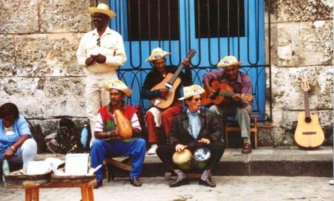Muscians Perform in Old Havana, Cuba, Dec. 2003