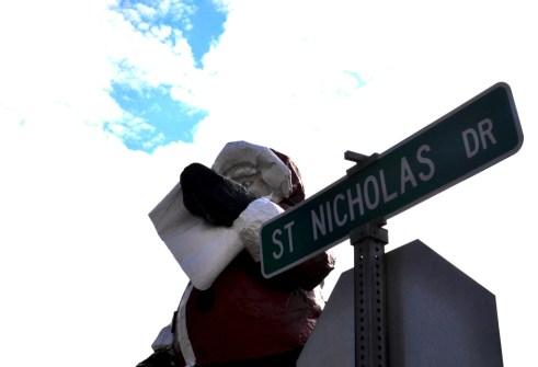 Giant Santa Statue on St. Nicholas Street, North Pole, Alaska
