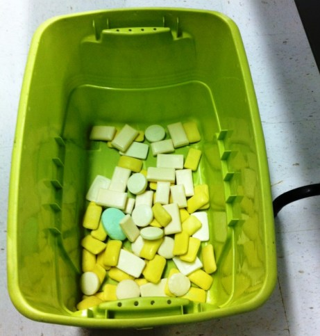 Soap I Cleaned During Two Hours of Volunteering at Clean the World, Orlando, Florida