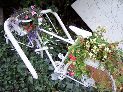 Floral Bicycle, Vancouver, B.C., Canada