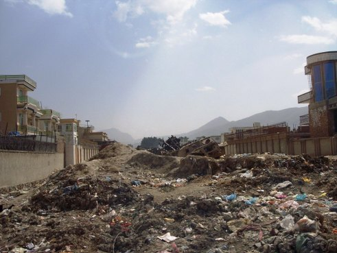 Trash in Kabul, Afghanistan, Street, March 2006