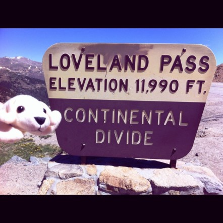 Side Trip to the Continental Divide. Whew! It Was Chilly.