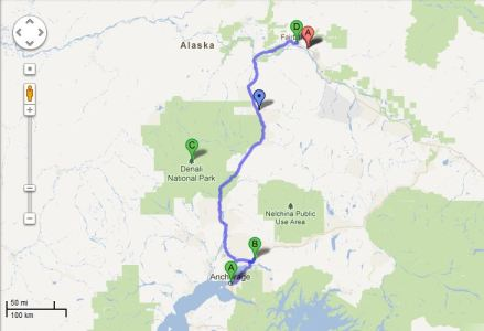 The Route for My Awesome Alaska Adventure 2011