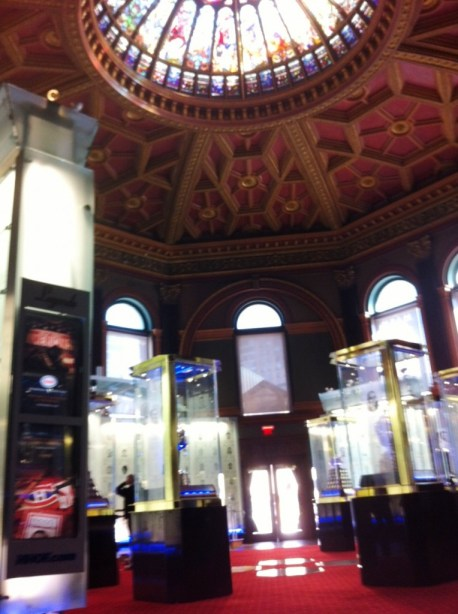Cathedral to the Icons of Hockey in the Esso Great Hall, Hockey Hall of Fame