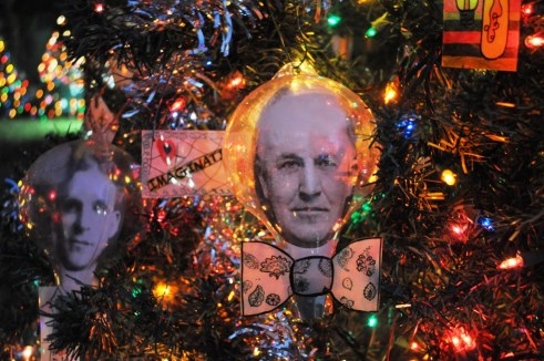 Thomas Edison Ornament at the Edison & Ford Winter Estates, Fort Myers, Fla.