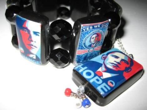 I Commissioned Carnivale Creations to Craft this Chunky Bracelet and Pendant for the 2009 Presidential Inauguration