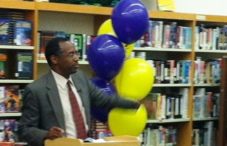Dr. Ben Carson Answers Questions from Booker Middle School Students in Sarasota, Fla., Feb. 27, 2013