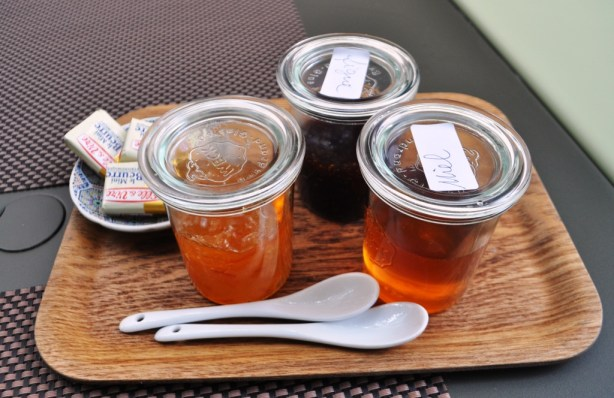 Sweet Toppings for Sunday Brunch, Marmalade, Jam and Honey at Place Lorette in Le Paneir, Marseille's Oldest Quarter