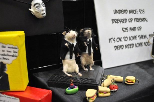 Sorry PETA. Taxidermy Mice. Spooky Empire, Orlando, Fla., Oct. 26, 2013