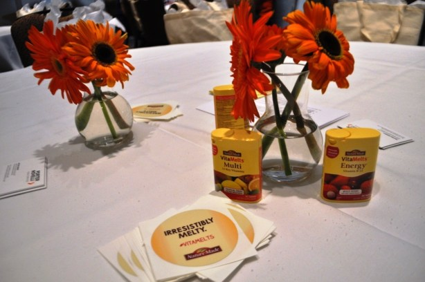 VitaMelts on Display during a Nature Made-Sponsored Breakfast during BlogHer 2013 in Chicago
