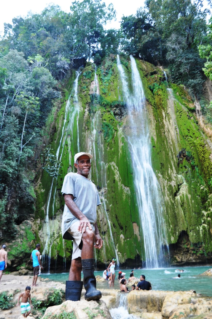 My Trusty Guide from Parada Basilio y Ramona, Garjito at of El Limón Waterfall