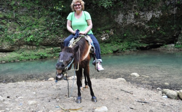 Me on Another Man's Horse in Samaná Heading to El Limón Waterfall