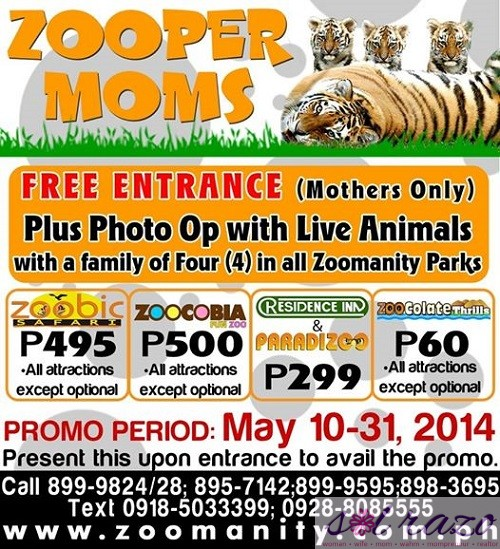 Zoomanity Mother's Day Promo