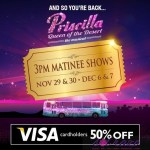 Priscilla gets 50% off from Visa card