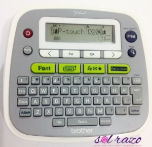 My Brother P Touch PT-D200 Label Maker Giveaway