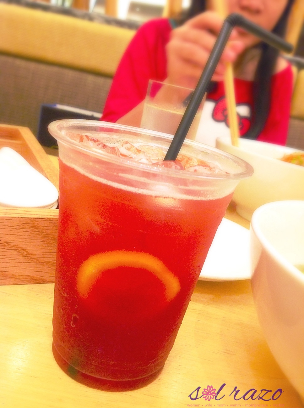 mian mango strawberry tea