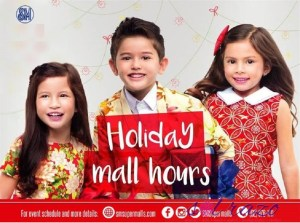 Mall hours in Metro Manila for Christmas 2016