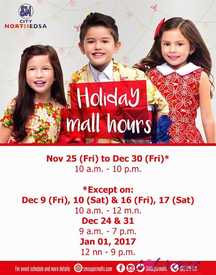 sm-north-edsa-holiday-mall-hours-2016