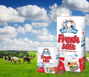 "Jolly Cow Fresh Milk guarantees a ""happy cow"" produce"
