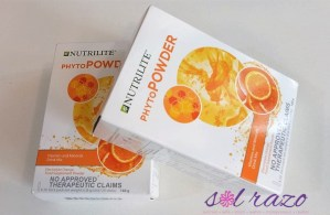 Amway's Nutrilite PhytoPowder provides 3 benefits in a single convenient drink