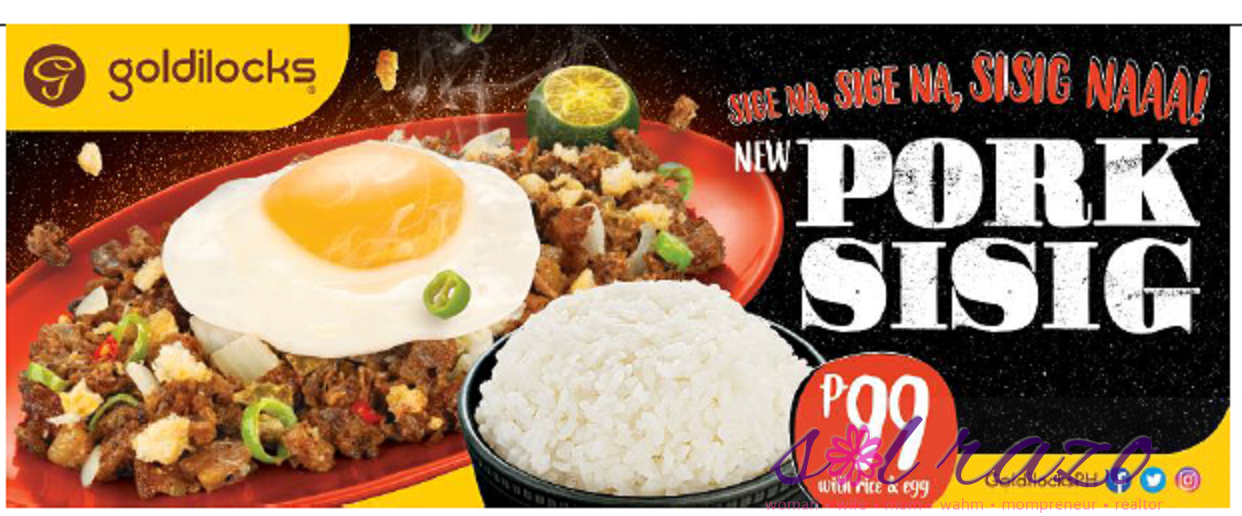 Goldilocks Pork Sisig: A Filipino staple