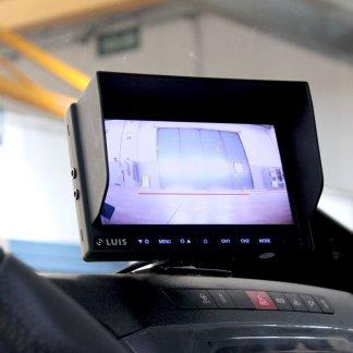 """LUIS 7 """"System Basic sistema di telecamera per retromarcia con telecamera per retromarcia ad alta risoluzione; adatto per camion e furgoni, nonché roulotte e campeggio (nero)"""
