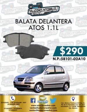 BALATA DELANTERA ATOS 1.1L