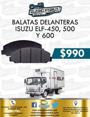 BALATAS DELANTERAS ISUZU ELF 450, 500 Y 600
