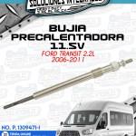 BUJÍA PRECALENTADORA 11.5V FORD TRANSIT 2.2L 2006-2011