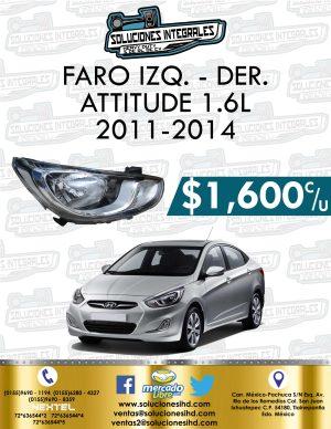 FARO DELANTERO DER. O IZQ. ATTITUDE 1.6L 2011-2014