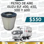 FILTRO AIRE ISUZU ELF 400, 450,500 Y 600