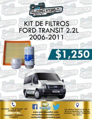 KIT FILTROS FORD TRANSIT 2.2L 2006-2011