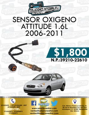 SENSOR OXIGENO ATTITUDE 1.6L 2006-2011