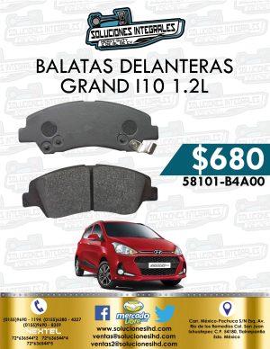 BALATA DELANTERA GRAND I10 1.2L