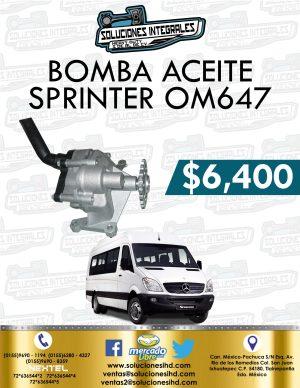 BOMBA ACEITE SPRINTER OM647