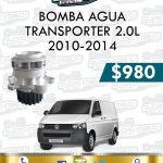 BOMBA AGUA TRANSPORTER 2.0L DIESEL 2010-2014
