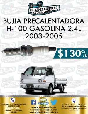 BUJÍA H100 GASOLINA 2.4L