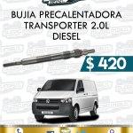 BUJÍA PRECALENTADORA TRANSPORTER 2.0L DIESEL