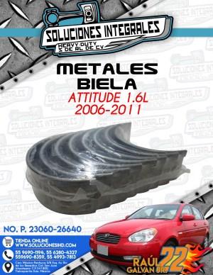 METALES BIELA STD ATTITUDE 1.6L 2006-2011