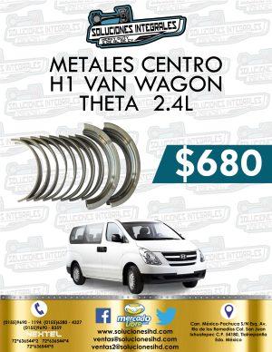 METALES CENTRO H1 VAN THETA 2.4L