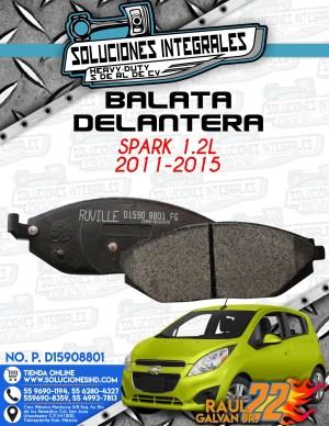 BALATA DELANTERA SPARK 1.2L 2011-2015