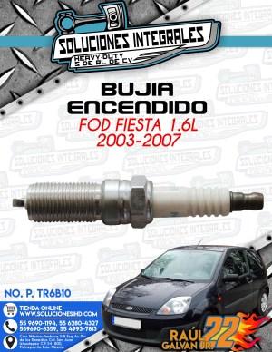 BUJÍA ENCENDIDO FORD FIESTA 1.6L 2003-2007