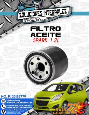 FILTRO ACEITE SPARK 1.2L