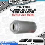 FILTRO COMBUSTIBLE SEPARADOR URVAN 3.0L